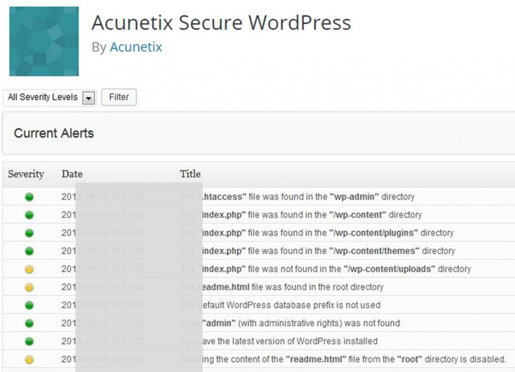 Acunetix Secure-wordpress