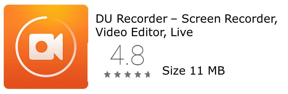 DU Recorder Screen Recording app