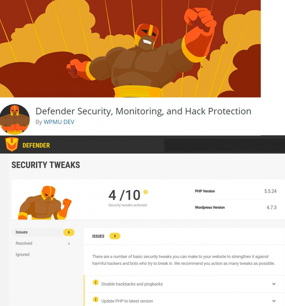 Defender Security plugin