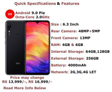 Reb Mi Note 7 Pro full Specifications