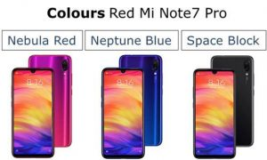 Red mi note 7 pro colours