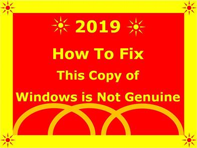 solve issues windows is not genuine