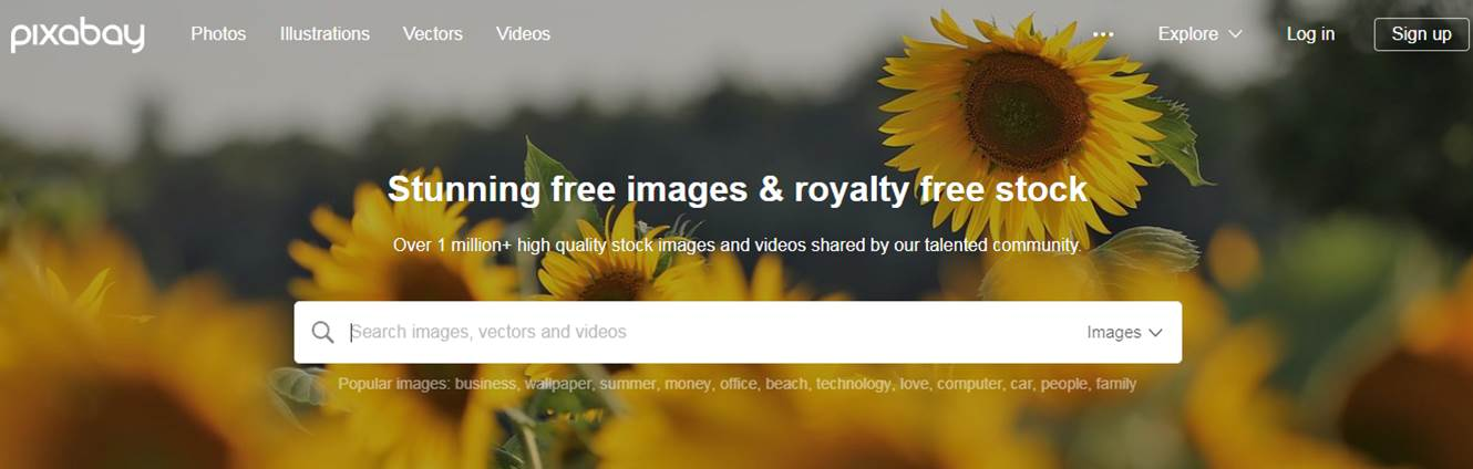 Free Image Providers For Website Pixabay