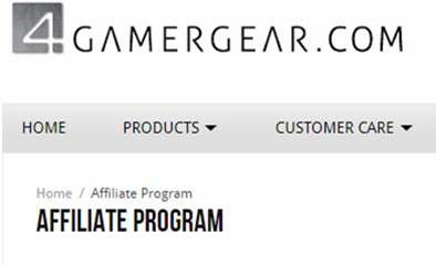 4gamergear affiliate store