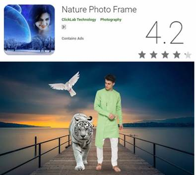 Nature frame photo editor app