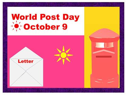 October 9 World Post Day